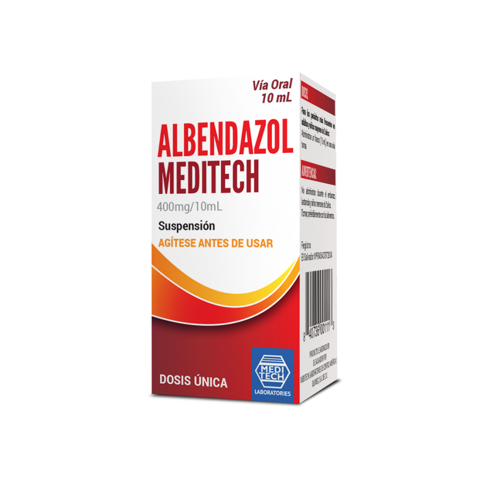 ALBENDAZOL MEDITECH 400 mg/10mL SUSPENSIÓN